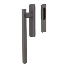 Stockholm Lift and Slide Door Handle, Oil Rubbed Bronze, Interior Handle and Ext