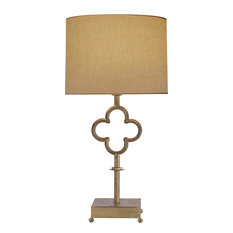 Visual Comfort & Co. - Suzanne Kasler Quatrefoil 1 Light Table Lamp in Gilded Iron With Wax - Table Lamps