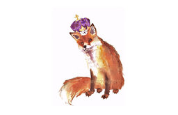 Nursery Fox Print, King of Fox Hollow by Eastwitching