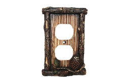 Pine Cone Single Outlet Cover