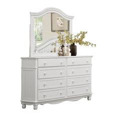 Cathworth Cottage Dresser and Mirror, White