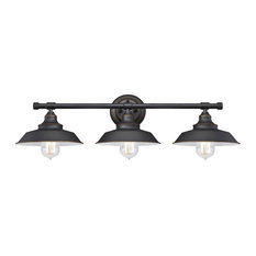 Westinghouse 63434-48 Iron Hill 3-Light Indoor Wall Fixture, Oil Rubbed Bronze