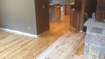 Installed and refinished new pine floors
