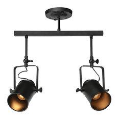 industrial track lighting. modren track lnc home  adjustable 2light black track lighting dining room ceiling lamp  and industrial