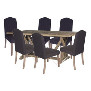 68667b1869 Liberty Carolina Lakes 5-Piece Trestle Dining Set in Charcoal ...