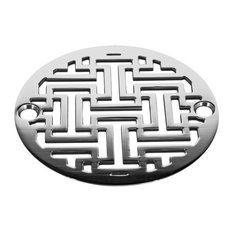 "3.25"" Round Shower Drain Architecture Sophia, Polished Stainless Steel"
