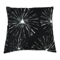 "Sparks Outdoor Throw Pillow, Black, 24""x24"""