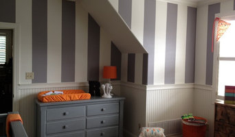 A Nursery we painted and striped in Hernando, Mississippi