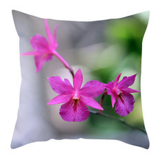 Pink Orchid Pillow Cover, 16x16