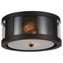 Industrial Flush-mount Ceiling Lighting by HedgeApple