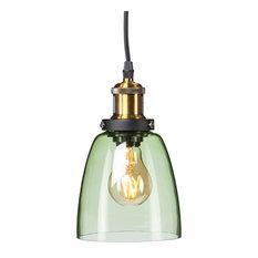 colored glass lighting. Southern Enterprise - Savio Colored Glass Mini Pendant Lamp, Spring Green Lighting