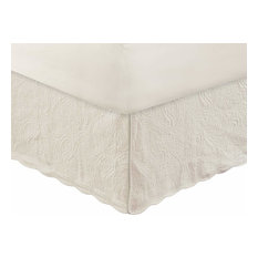Greenland Home Paisley Quilted Bed Skirt Ivory, King