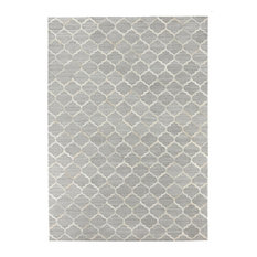Cordova Natural Hide Rug, Silver and Ivory, 12x15