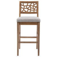 INK+IVY Crackle Counter Stool, Light Gray