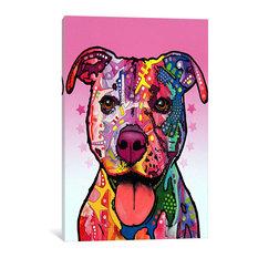 """Cherish The Pit Bull"" Wrapped Canvas Art Print, 18x12x0.75"