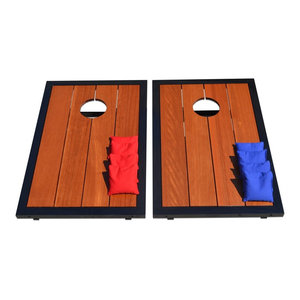 GoSports Premium Wood CornHole Set with Powder Coated Frame, 8 Bags
