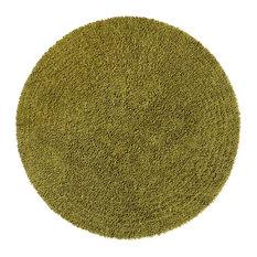 Moss Shagadelic Chenille Twist Rug, 5' Round