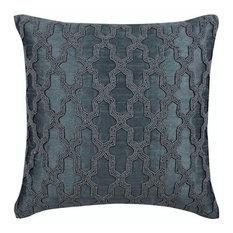 Trellis Runway Silk Decorative Cushion Cover, Grey, 60x60 cm