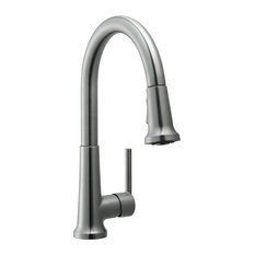Design House   Geneva Kitchen With Pullout Satin Nickel   Kitchen Faucets