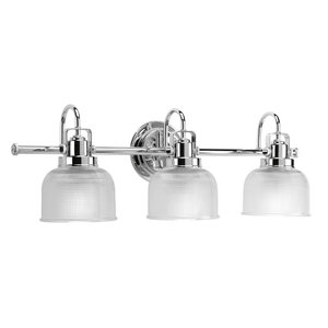 Archie Collection 3-Light Bath Light, Polished Chrome