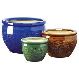 Mediterranean Outdoor Pots And Planters by VirVentures