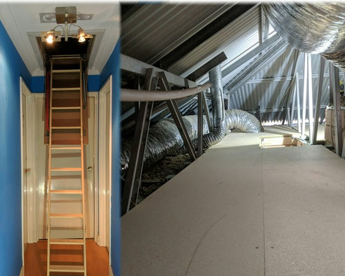 Attic storage for steel frame roofs by Attic Lad WA - Storage and Organisation
