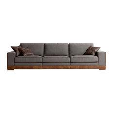 Tecninova - Tecni Nova Contemporary Sofa With Leather Detail - Sofas