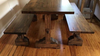 Custom Farm table and matching benches