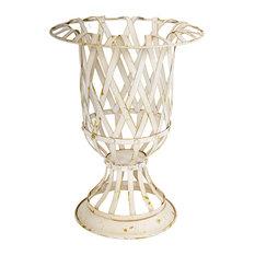 """Metal Lattice Planter Vase, 12""""x16"""""""
