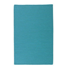 Colonial Mills, Inc - 8' Square (Large 8x8) Rug, Turquoise (Blue) Indoor/Outdoor Carpet - Outdoor Rugs