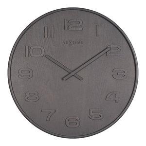 Nextime Wood Large Clock, Grey