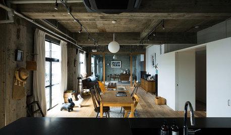 築50年の空きビルをリノベーション。使い込まれた深い質感のある住まい