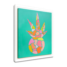 Paradise Pineapple Framed Canvas Tropical Wall Art