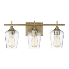 Savoy House Octave 3-Light Bathroom Vanity Light in Warm Brass