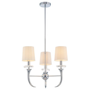 Savoy House Europe Carla Chandelier, White, 3 Lights