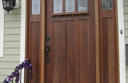Wooden Mission Style Front Door