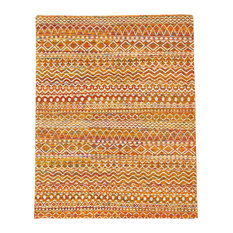 "Weave & Wander Lacuna Rug, Apricot, 5'6""x8'6"""