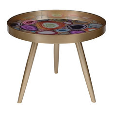 A B Home 24 X19 Livonia Side Table Multi Colored