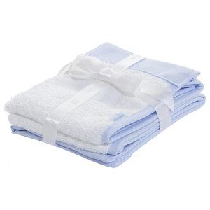 Lisa 2-Piece Baby Towel Set, Blue