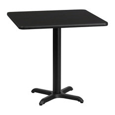 30'' Square Black Laminate Table Top With 22''x22'' Table Height Base
