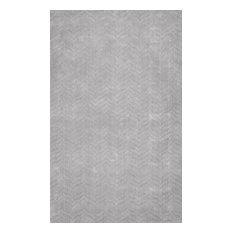 "Hand Woven Monochrome Cs01 Rug, Gray, 9'6""x13'6"""
