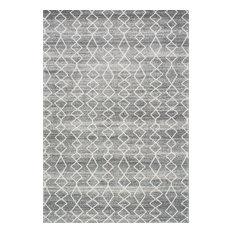 Moroccan Trellis Area Rug, Gray, 3'x5'