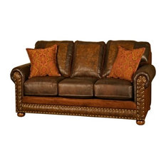 Western Rancher Style Leather Sofa   Sofas