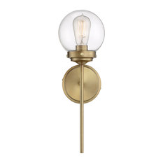 1-Light Wall Sconce, Natural Brass