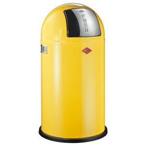 Wesco Pushboy Bin, Lemon Yellow