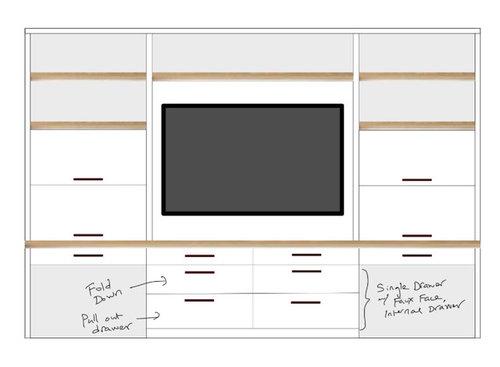 Vertical Sliding Cabinet Doors For Hideaway Desks