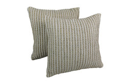 "Blazing Needles 20"" Woven Look Rope Corded Pillow, White/ Beige, White/ Beige, S"