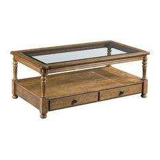 Hammary Candlewood-The Hamilton Rectangular Drawer Cocktail Table by Hammary Furniture