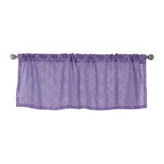"Jess Rod Pocket Embroidered Curtain Valance, Bougainvillea, 54""x18"""
