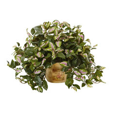 Artificial Plant, Hoya with Wooden Pot Silk Plant
